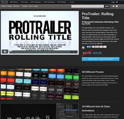 Pixel Film Studios ProTrailer Rolling Title Plugin.