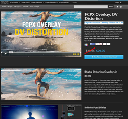 Pixel Film Studios FCPX Overlay DV Distortion Plugin.
