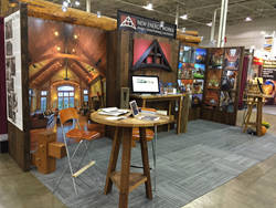The New Energy Works team invites the shows' attendees into their exhibit – Booth #312 – to share their timber frame design and build expertise, project images, and their new 2016 project calendar.