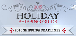 2015 Holiday Shipping Deadlines Infographic by ShipStation Image