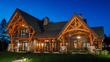 New Energy Works Timberframing crafted the exterior and interior timber frame for this lakeside home.