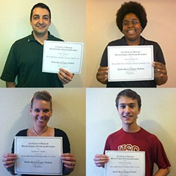 Picture of students who have earned certification through the Search Engine Academy