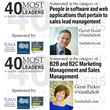 "Two Vanillasoft Executives Nominated For The SLMA ""Inspiring Leader In Sales Lead Management"" Program"