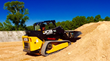 This JCB 300T compact track loader was used during the original construction of the Baker Factory tracks in 2014, and it continues to be used for day-to-day maintenance.