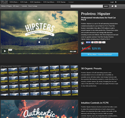 Pixel Film Studios FCPX ProIntro Hipster Plugin.