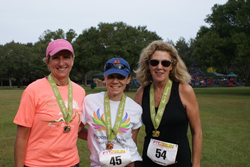 The top three female finishers received medals and gift cards from Fit2Run.
