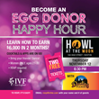 IVF New England to Host Egg Donor Happy Hour on November 12, 2015 at Howl At The Moon Boston for Women Who Wish to Learn About Becoming an Egg Donor