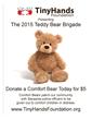 2015 Tiny Hands Foundation Teddy Bear Brigade