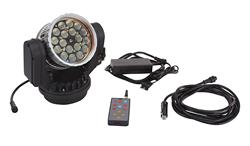 Remote Control LED Spotlight that produces a 3,000 Lumen Light Beam