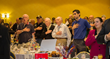 Veterans and supporters participate in the Pledge of Allegiance during the sixth annual Veterans Breakfast at the Westchester Marriot in Tarrytown.