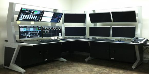 Imagevision Security Control Room Furniture Helps Delta