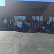 Green Lawn Fertilizing Employees Pose with Chester County Future Students