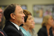 Governor Gary Herbert and First Lady Jeanette Herbert on Tuesday listen to refugees' stories at the Utah Refugee Education and Training Center on Salt Lake Community College's Meadowbrook Campus.