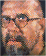 Chuck Close, Self-Portrait, 1997. Oil on canvas.  © Chuck Close, Courtesy Pace Gallery.