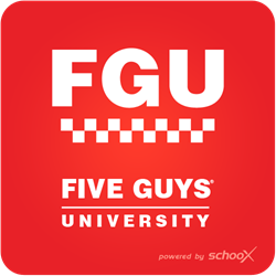 Five Guys University for Franchise Training with Schoox's Academy