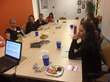 NAPW Palo Alto members listening to guest speaker at their October meeting.