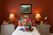 Kensington Place abounds in colors like deep reds, blues, golds, and textural elements