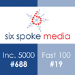 For the 2nd Year in a Row, Inc. Magazine Names Six Spoke to the Inc. 500|5000 List of Fastest Growing Companies -- SF Business Times names Six Spoke #19 on Fast 100 List