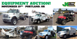 Construction Equipment and Auto Auction, Portland, November 19, 2015