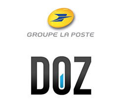 Groupe LaPoste and DOZ logos