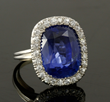 Lot 2273-15.02 carat natural blue Ceylon sapphire ring