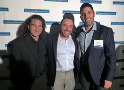 Steve Schwartz, Sam Sinai, and Ben Pouladian, attend the Los Angeles Business Journal's 19th annual Fastest Growing Private Company Awards.