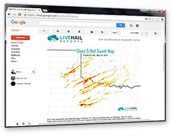 Free Hail Swath Map alerting service now available from LiveHailReports.com