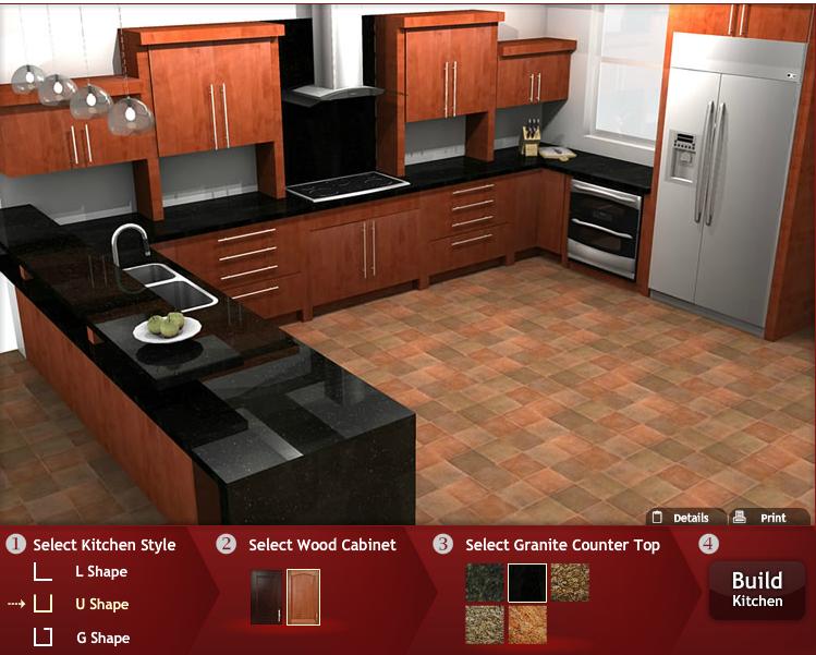 the Virtual Kitchen Builder from Panda Kitchen