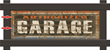 Genuine Hotrod Hardware Brick Personalized Garage Sign