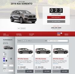 Adpearance Kia Landing Page