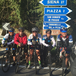 Backroads employees pedaling through Tuscany!