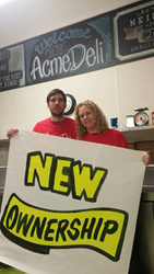 New Owners at Acme Deli - Chad and Shannon Skally