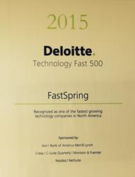 FastSpring's Deloitte Technology Fast 500 award