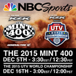 Both the Mint 400 and UTV World Championship will premiere on NBC Sports in December closing out the season of off-road racing.