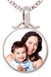 Silver Round Photo Pendant by PhotoScribe