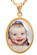 Gold Oval Photo Pendant by PhotoScribe