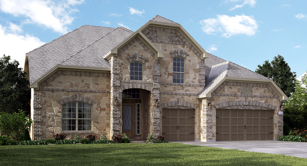 Village builders opens new model home in lakes at creekside for Houston home designers