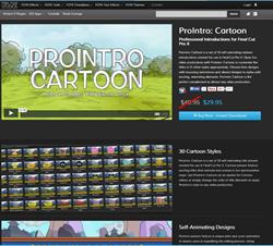 Pixel Film Studios ProIntro Cartoon Plugin.