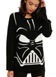 "Don't underestimate the power of this ""most impressive"" comfy knit sweater featuring the face of the dark side, Darth Vader, part of the new Star Wars Collection from Her Universe & Hot Topic."