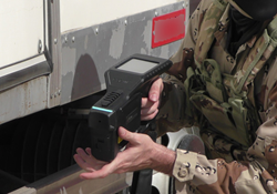 This hand-held explosive detector can detect illusive, home-made, liquid explosives such as TATP and PTEN.