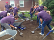 doTERRA employees cleared land and installed a playground, donated by doTERRA Healing Hands Foundation to the Now I Can Foundation, to help children with disabilities.