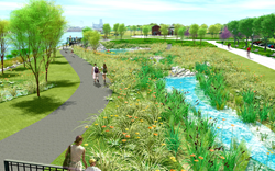 Rendering of the North Overlook at the new Middlegrounds Metropark, Toledo, Ohio