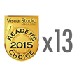 DevExpress Wins 13 Gold and 5 Silver Visual Studio Magazine Reader's Choice Awards