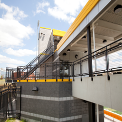 West Liberty University adds Hollander's® Interna-Rail® System  to Football Stadium Remodel
