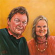 AARP Maryland is presenting this original artist's painting to Laurie and Bill Kelly, of Takoma Park, Md.
