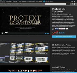 Pixel Film Studios ProText 3D Controller Plugin.