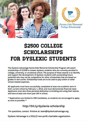 Dyslexic Advantage Announces New Scholarships for College Students with Dyslexia