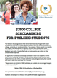 Dyslexic Advantage Announces College Scholarship for Students with Dyslexia