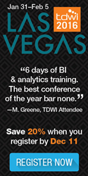TDWI Las Vegas: January 31-February 5, 2016