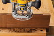 "The Mortise Centering Base provides a solid base for centering mortises in stock up to 4"" thick."